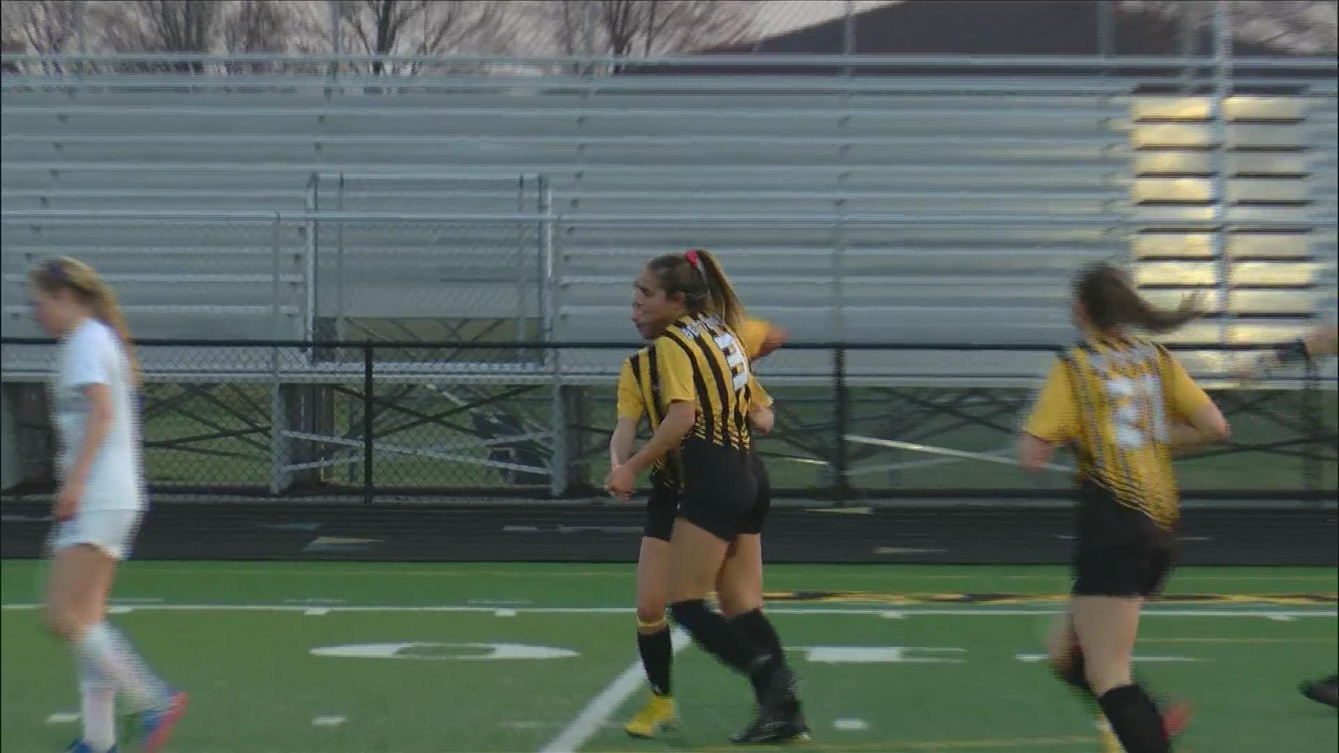 Bettendorf Girls Soccer wins 3-0.