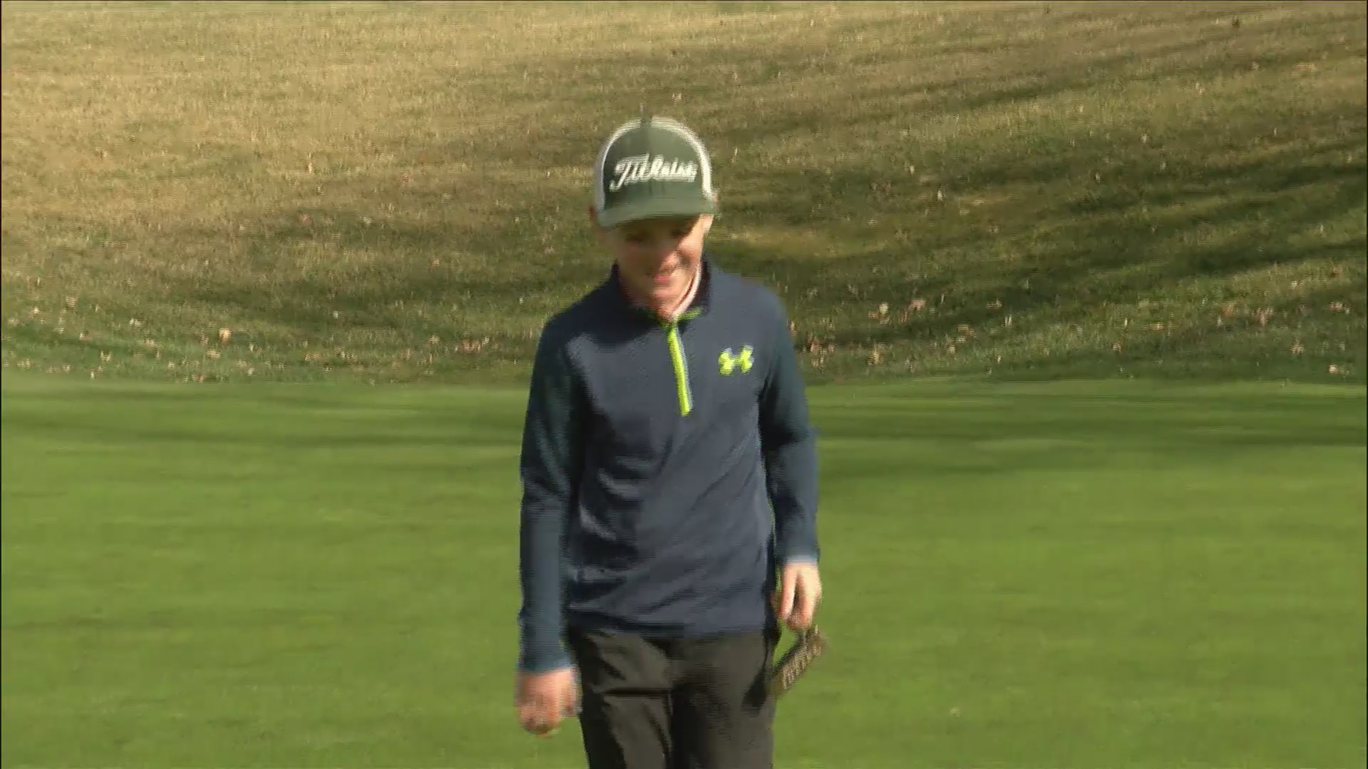 Isaac Rumler going to Drive, Chip and Putt