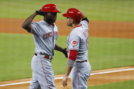 Aristides Aquino, Joey Votto