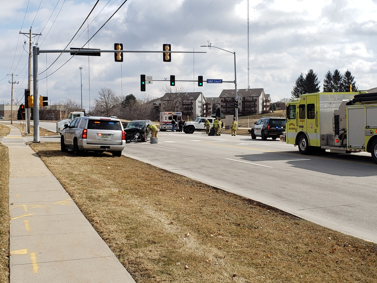Crash on Middle Rd and AA Court in Bettendorf