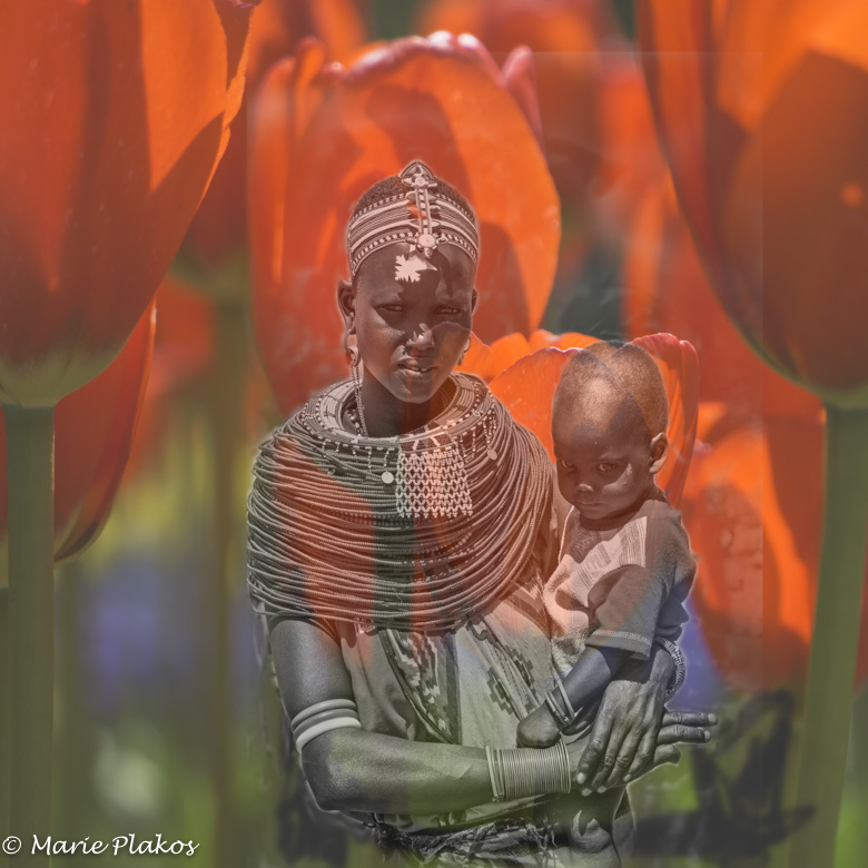 Perfect Love for the Maasai woman and her child.