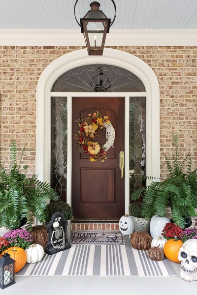 Simple Fall to Halloween Porch