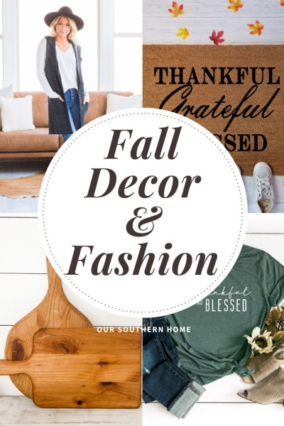 graphic pin of fall decor and fashion