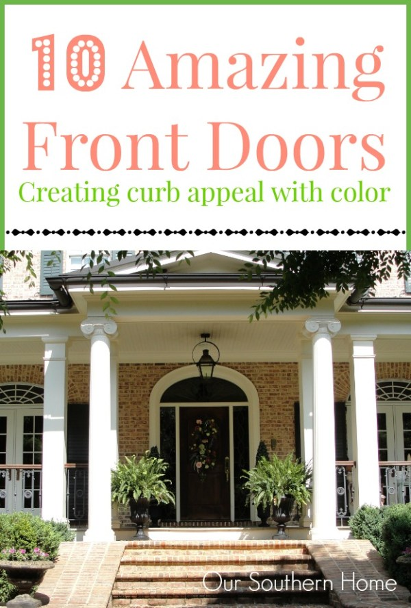 southern front doorsFront Door Color Inspiration  Our Southern Home
