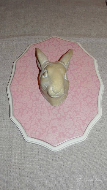 scrapbook paper mod podge rabbit for teen girl's room