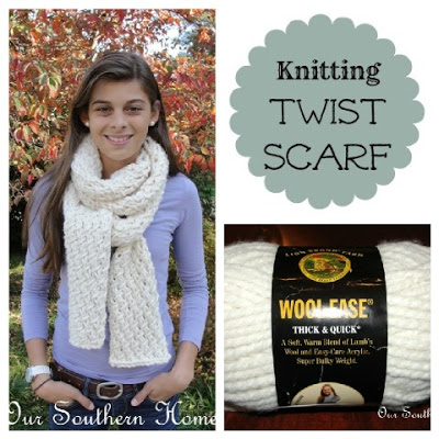 Phydeaux Twist Chunky Scarf {Knitting Pattern}