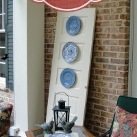 Thrift Store Door {Plate Display}