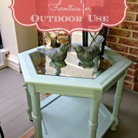 Painting Outdoor Furniture {Thrift Store Find}