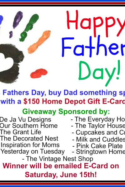 $150 Home Depot Gift Card Giveaway {Father's Day}