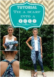 Tie a Scarf into a Vest {Tutorial}