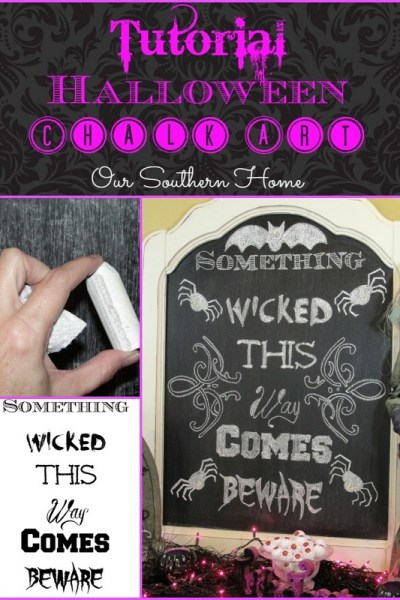 Halloween Chalk Art Tutorial {Free Printable}