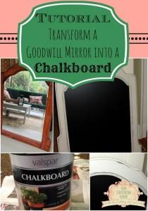 Goodwill Mirror to Chalkboard Tutorial