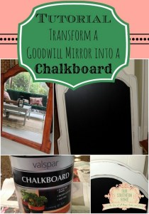 Goodwill Mirror to Chalkboard Tutorial