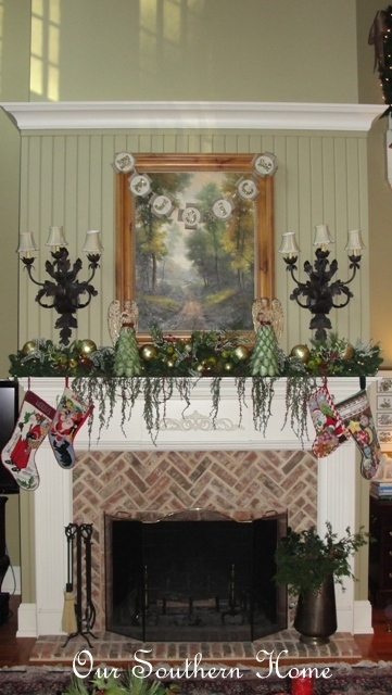 Christmas mantel