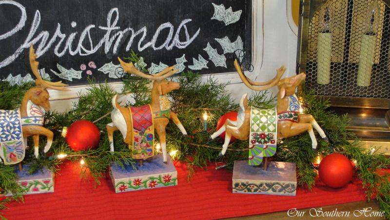 Christmas Chalk art Vignette via Our Southern Home