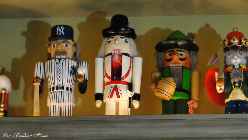 Nutcracker collection left on display year around from Our Southern Home