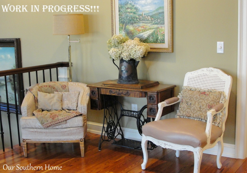 french country old white chair