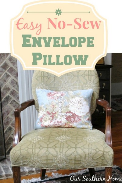 No-Sew Floral Spring Pillow