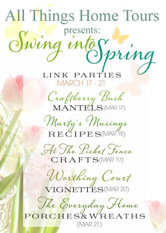 Spring Into Spring Link Parties. Link up Friday at Our Southern Home