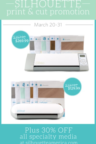 Silhouette Cut & Print Promotion