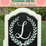 DIY Monogrammed Chalk Art via Our Southern Home #chalkart #monograms #monogramcrafts #diy