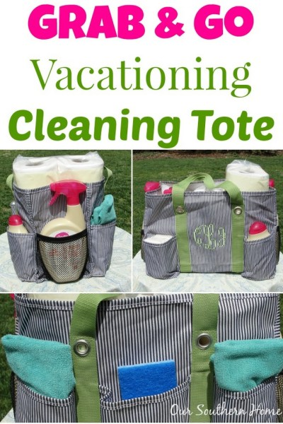 Grab and Go Vacationing Cleaning Tote with #WalgreensOlogy for #CollectiveBias via Our Southern Home