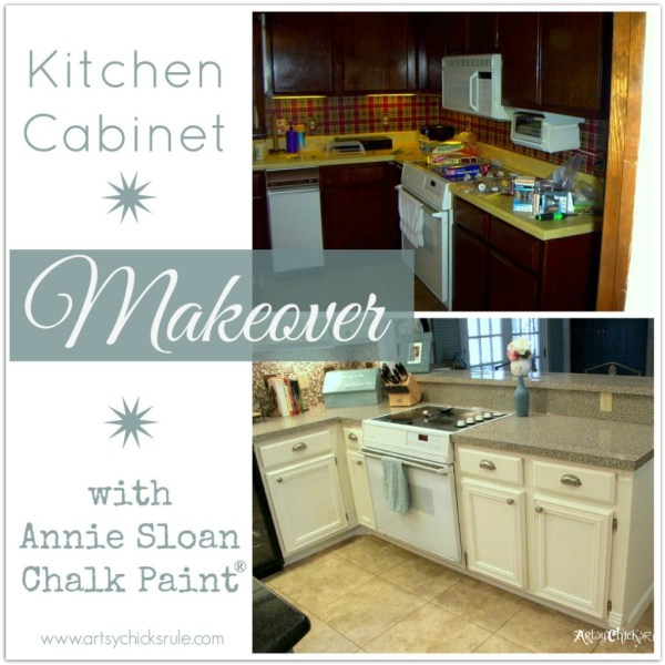 Kitchen Before and After Annie Sloan Chalk Paint