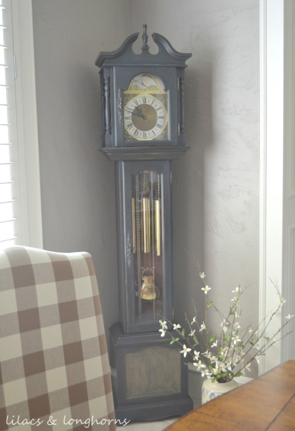 Clock Over Dining Room Hutch