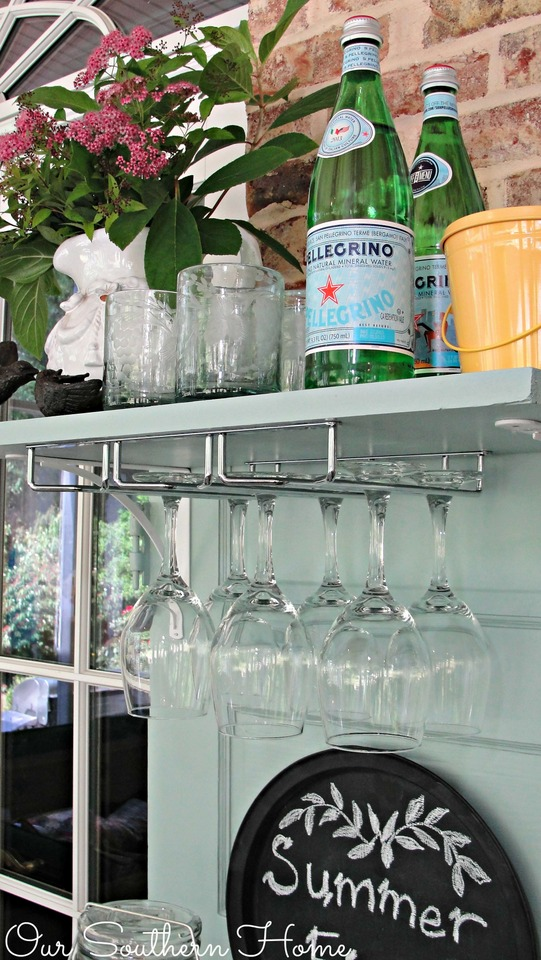 Upcycled beverage station using Elmer's ProBond via Our Southern Home