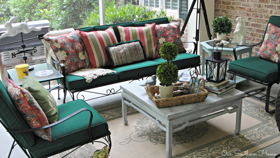 Summer on the screened porch with Our Southern Home #summerathome #porch