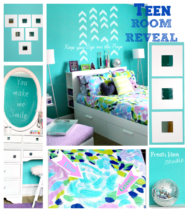 Teen Room Reveal collage