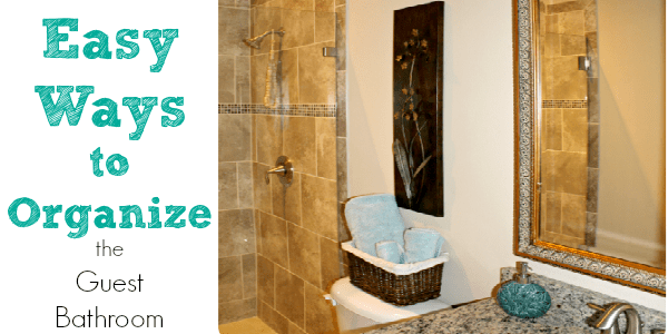 organizing the guest bathroom feature
