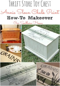 Toy Chest Chalk Paint Makeover