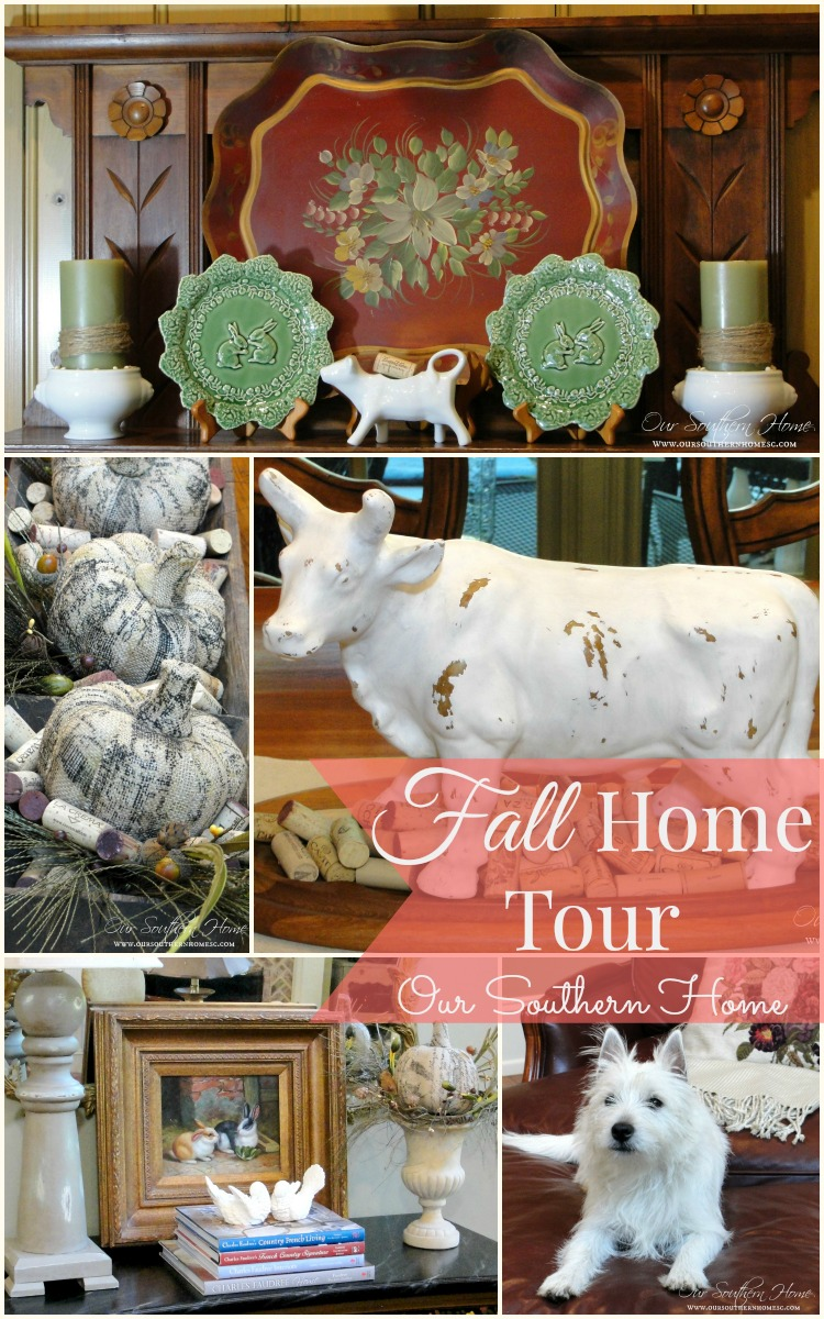 Simple touches fall home tour with Our Southern Home #fall #falltour #frenchcountry