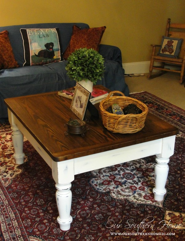farmhouse coffee table makeover our southern home