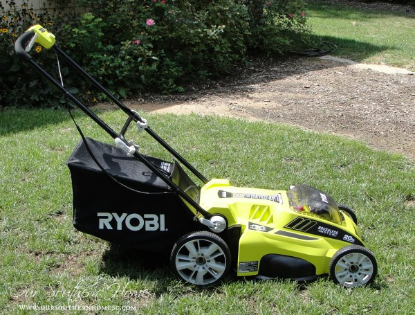 Ryobi 40V Lithium-Ion Brushless Mower review via Our Southern Home