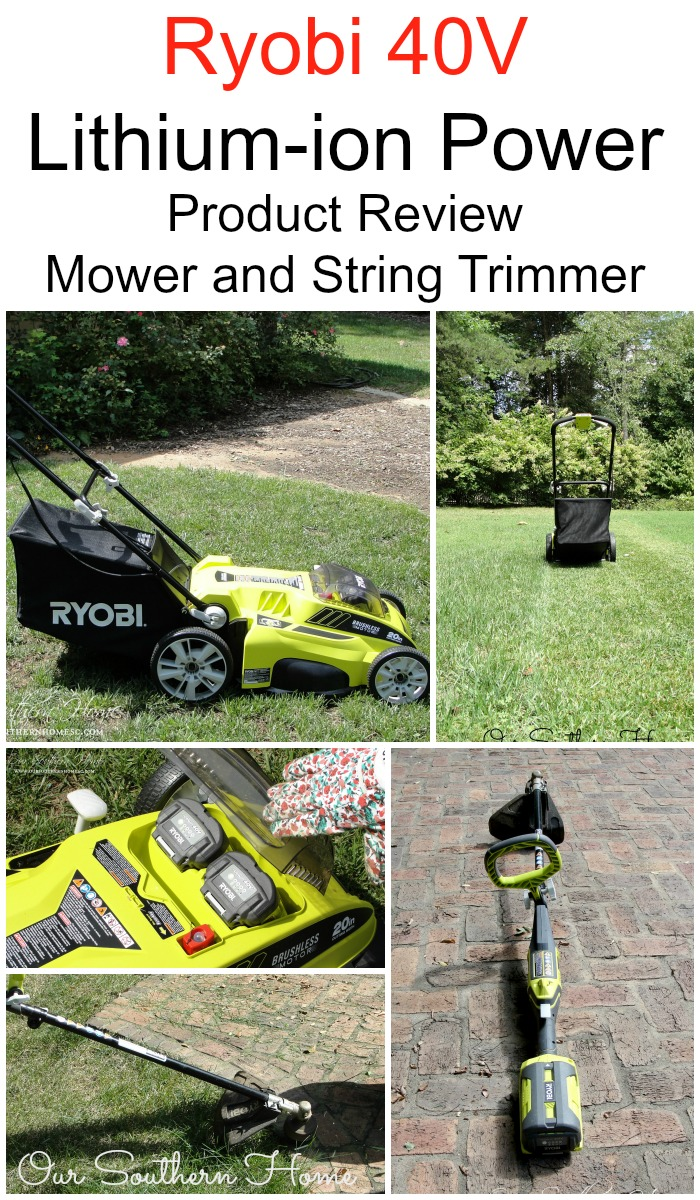 Ryobi 40V Lithium-Ion String Trimmer and Mower review via Our Southern Home