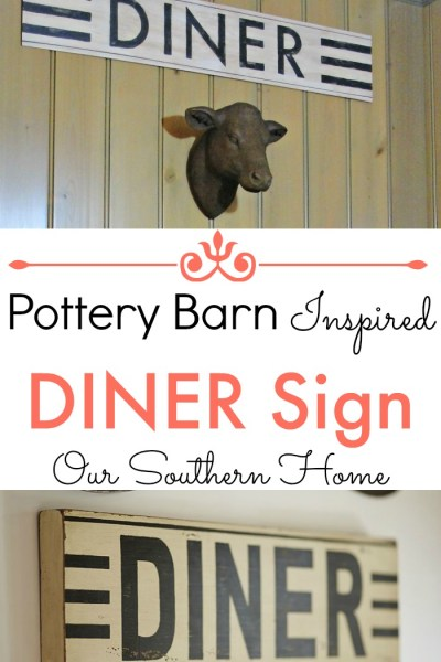 Pottery Barn Inspired Diner Sign