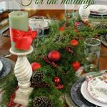 Festive ideas for decorating with plaids for the holidays via Our Southern Homr