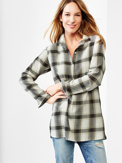 Wearing plaid via Our Southern Home