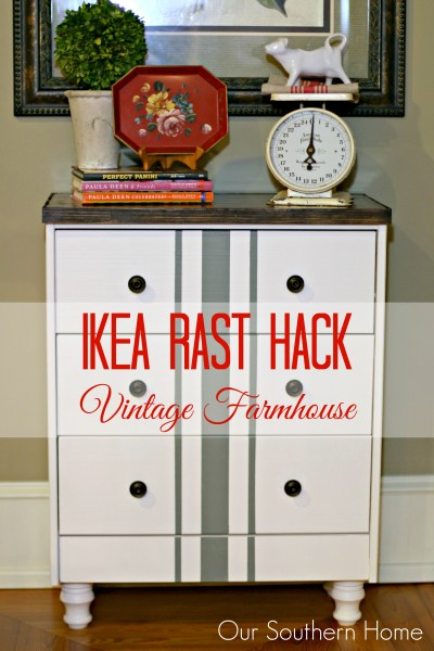 Vintage Farmhouse Ikea Rast Hack from Our Southern Home