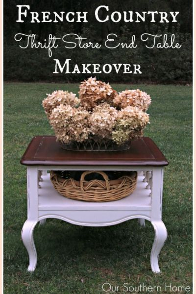 French Country End Table Makeover