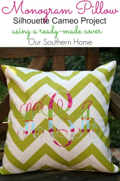 No Sew Monogram Pillows