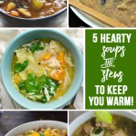5 Hearty Soups and Stews are the features from this week's Inspiration Monday Link Party!
