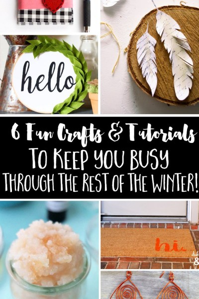 6 Fun DIY Crafts are the features from Inspiration Monday link party!