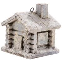 Snowy Log Cabin Ornament | Hobby Lobby | 5369392