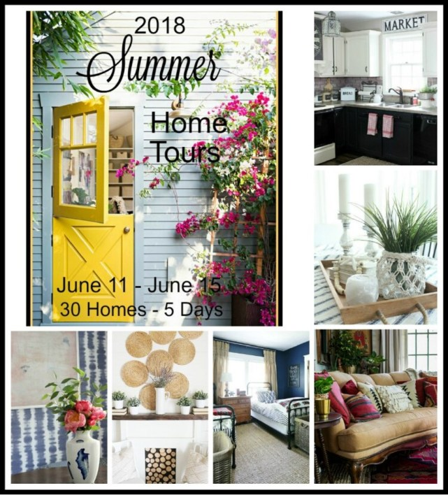 2018 Summer Home Tours with 30 bloggers! This is a fabulous, eclectic tour with something to fit every style!