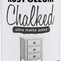 Chalked Spray Paint in Linen White