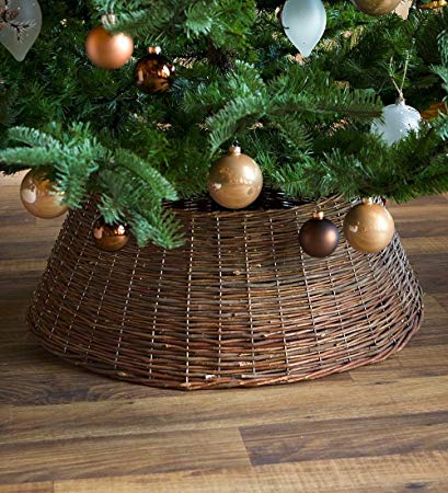 Plow & Hearth Large Willow Christmas Tree Ring Collar, 27½'' Dia.