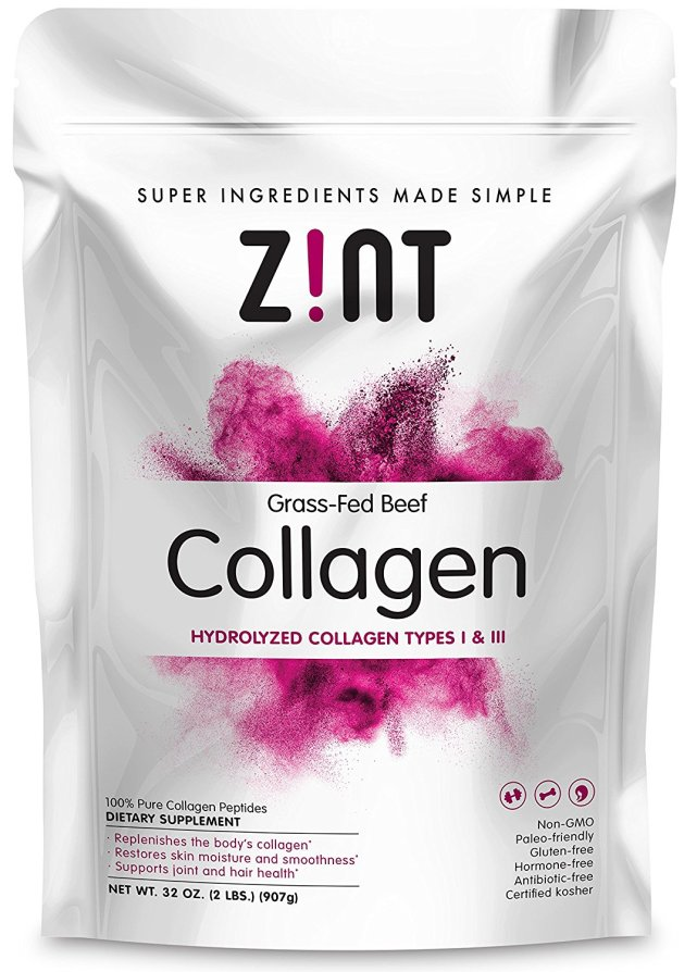bag of collagen powder